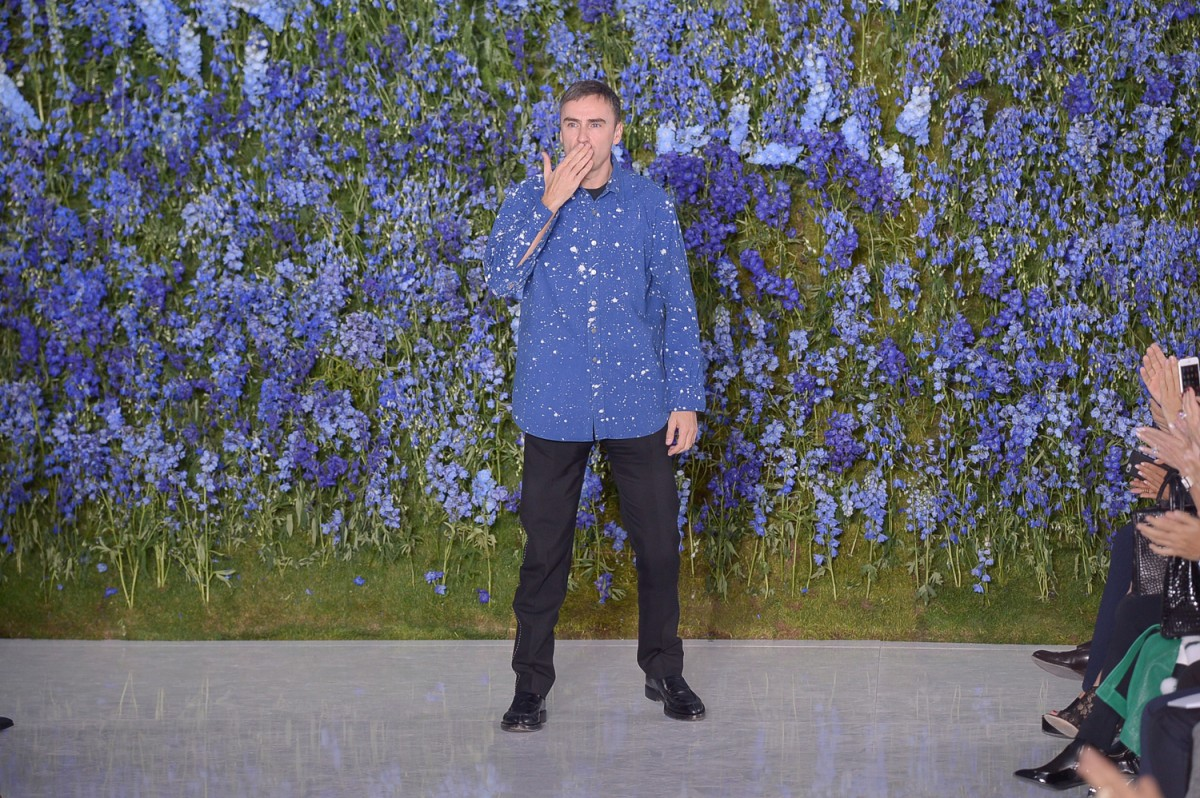 PARIS, FRANCE - OCTOBER 02: Raf Simons walks the runway during the Christian Dior show as part of the Paris Fashion Week Womenswear Spring/Summer 2016  on October 2, 2015 in Paris, France.  (Photo by Victor Boyko/WireImage)