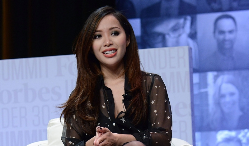 PHILADELPHIA, PA - OCTOBER 05:  Michelle Phan, YouTube Personality, Founder of ipsy speaks at Forbes Under 30 Summit at Pennsylvania Convention Center on October 5, 2015 in Philadelphia, Pennsylvania.  (Photo by Lisa Lake/Getty Images)