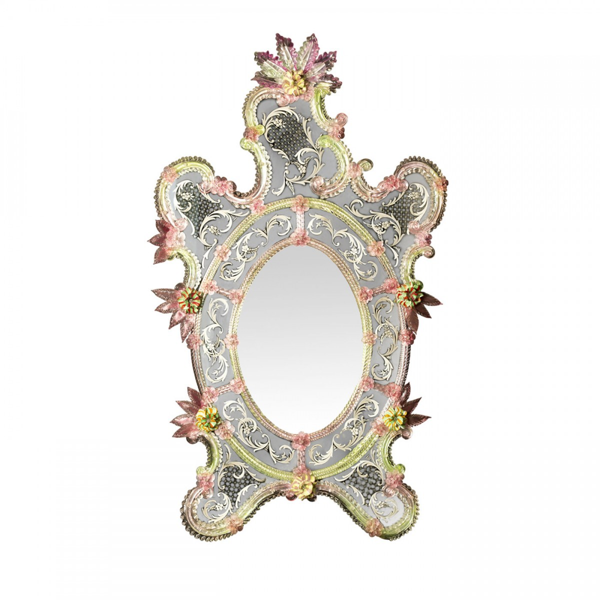 Ongaro & Fuga – Pavone Venetian Glass Mirror – Available on www.artemest.com