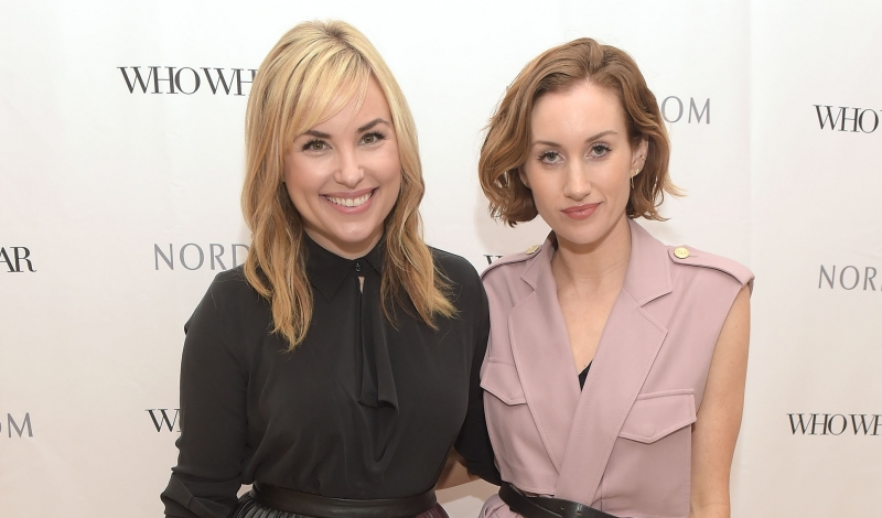 LOS ANGELES, CA - SEPTEMBER 24:  Hillary Kerr (L) and Katherine Power attend the Who What Wear and Nordstrom Trunk Show at The Grove on September 24, 2015 in Los Angeles, California.  (Photo by Jason Kempin/Getty Images for Nordstrom)