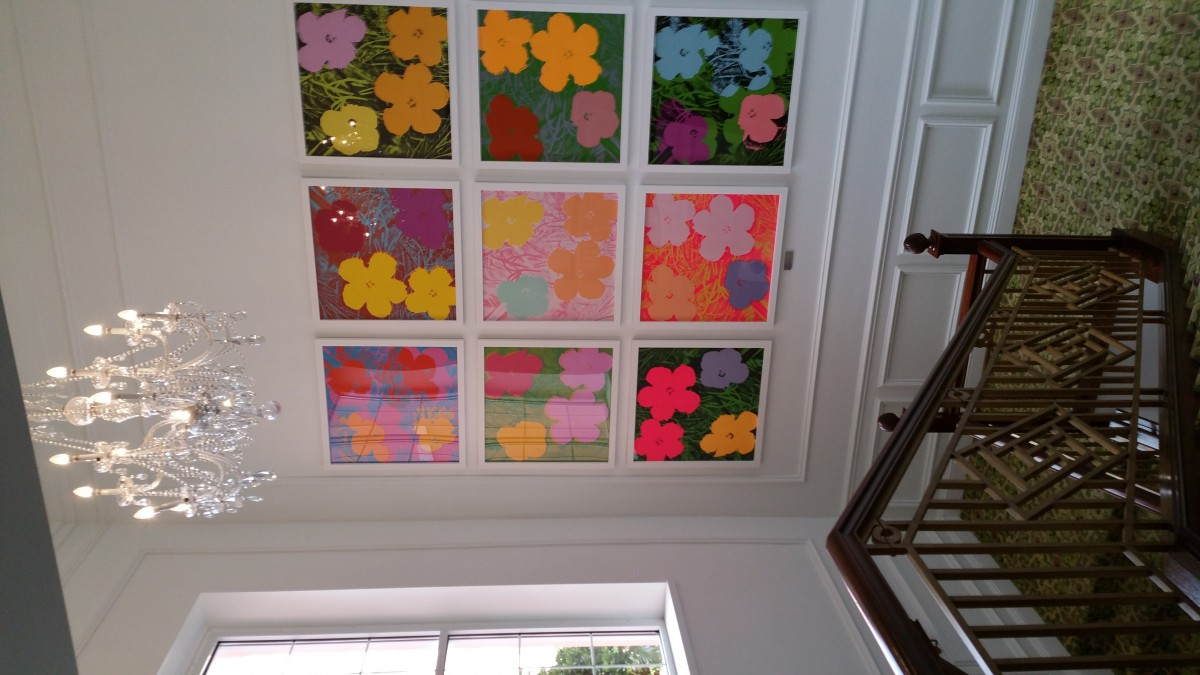 3. Andy Warhol's Flowers at The Bermuda Princess