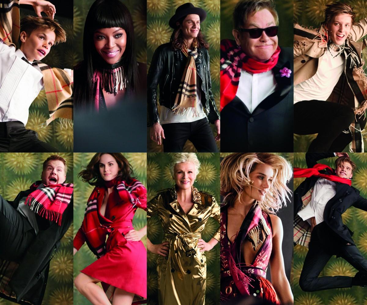 Burberry Festive Film – The Cast, shot by Burberry
