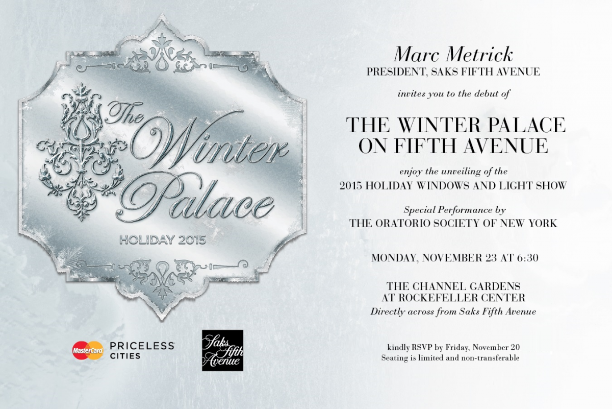 THE WINTER PALACE_SAKS INVITATION