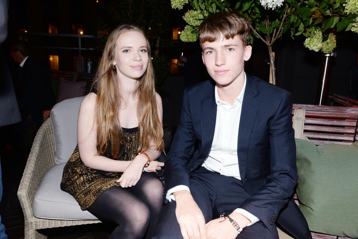 Eleanor Roberts, Luke Wintour== Montblanc & The Cinema Society host a party for the New York Film Festival premiere of Magnolia Pictures' Experimenter== PH-D Terrace, NYC== October 6, 2015== ©Patrick McMullan== Photo - Clint Spaulding/PatrickMcMullan.com== ==