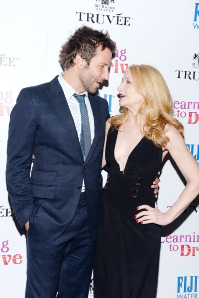 Bradley Cooper, Patricia Clarkson==A celebration for Patricia Clarkson, presented by FIJI Water and Truvée Wines==Mr Purple at the Hotel Indigo LES, NYC==December 15, 2015==©Patrick McMullan==Photo - Clint Spaulding/ PMC== ==