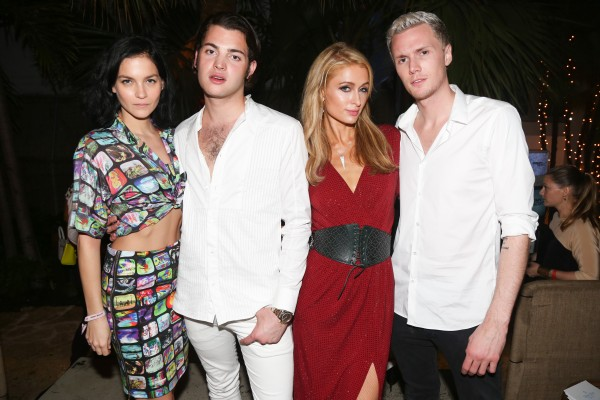 Baron Hilton, Paris Hilton, Peter Brandt, Leigh Lezark