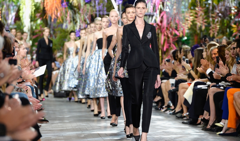 PARIS, FRANCE - SEPTEMBER 27:  Models walk the runway during Christian Dior show as part of the Paris Fashion Week Womenswear  Spring/Summer 2014 at Musee Rodin on September 27, 2013 in Paris, France.  (Photo by Pascal Le Segretain/Getty Images)