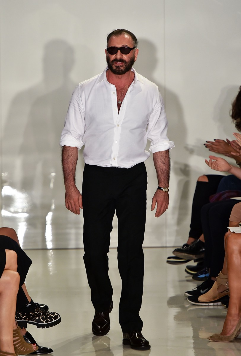 NEW YORK, NY - SEPTEMBER 06: Designer Ralph Rucci walks the runway at the Ralph Rucci fashion show during Mercedes-Benz Fashion Week Spring 2015 on September 6, 2014 in New York City. (Photo by Slaven Vlasic/Getty Images)