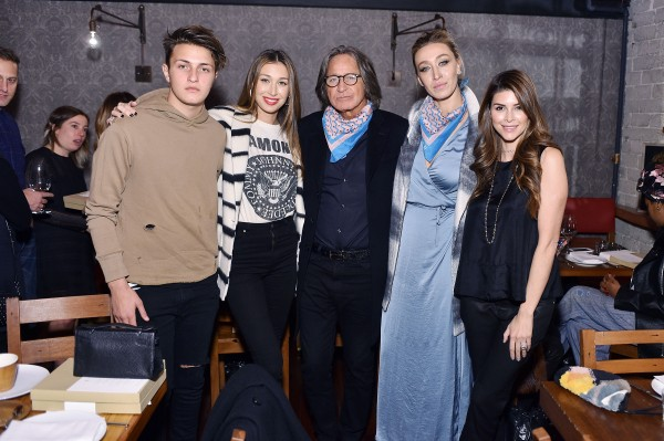 LOS ANGELES, CA - DECEMBER 16: (L-R) Anwar Hadid, Marielle Hadid, Mohamed Hadid, Alana Hadid and Shiva Safai attend Alana Hadid x Lou & Grey Celebrate Collaboration With Friends And Family In Los Angeles at Republique on December 16, 2015 in Los Angeles, California. (Photo by Stefanie Keenan/Getty Images for Lou & Grey)