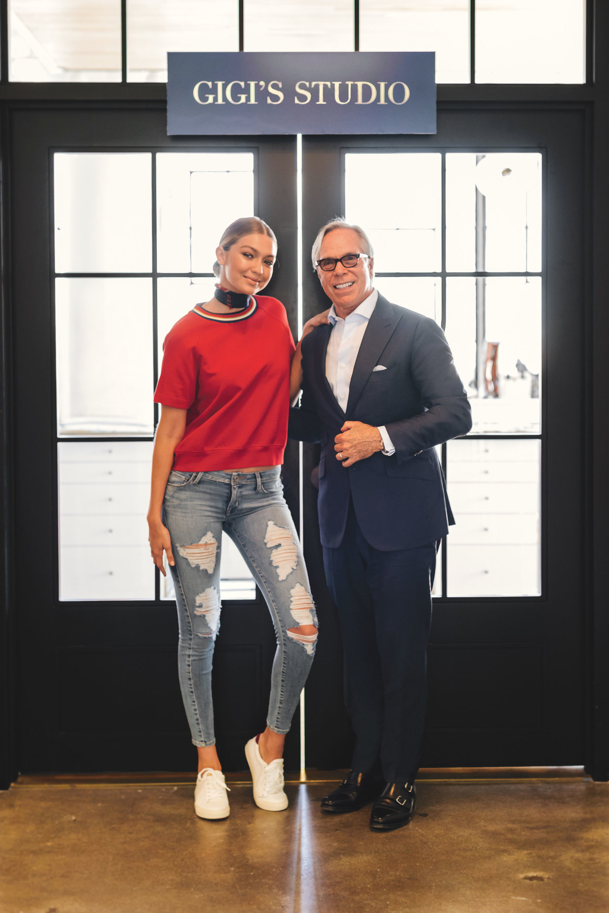 gigi hadid becomes designer for tommy hilfiger daily front row. Black Bedroom Furniture Sets. Home Design Ideas
