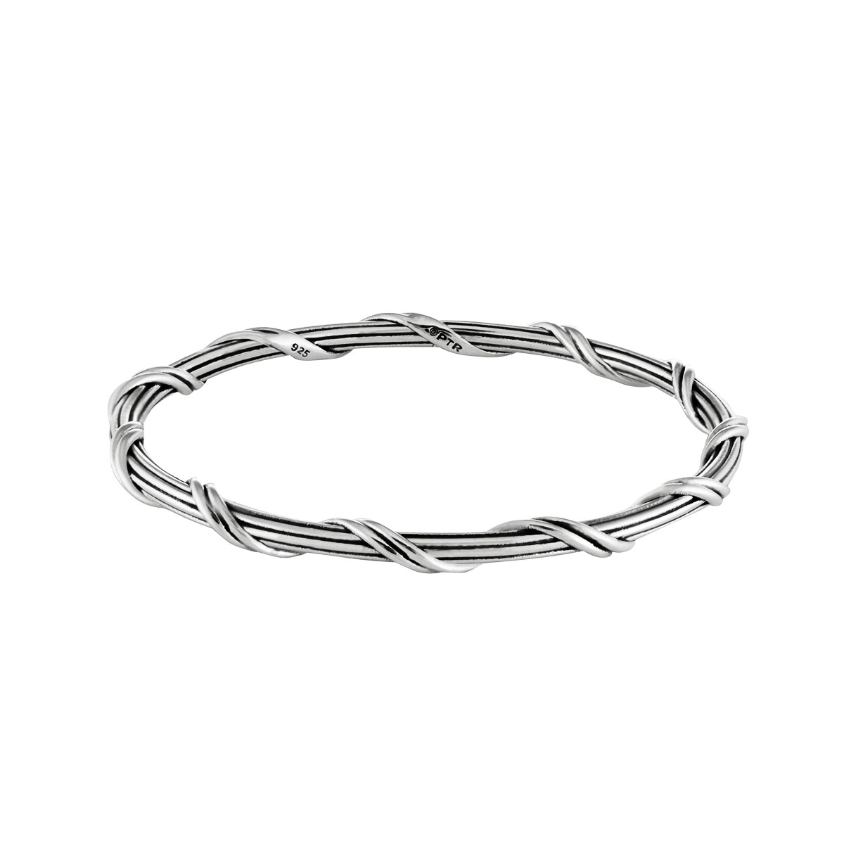 B7001SANONOMED_Ribbon-and-reed-sterling-silver-bangle-bracelet-slip-on_1_090915_v2