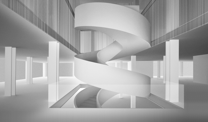 Chelsea Flagship Staircase Rendering