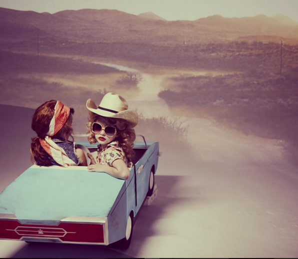 Thelm + Lou fashion film inspired by Thelma and Louise. Photographed and directed by Amanda Pratt for Papier Mache magazine.