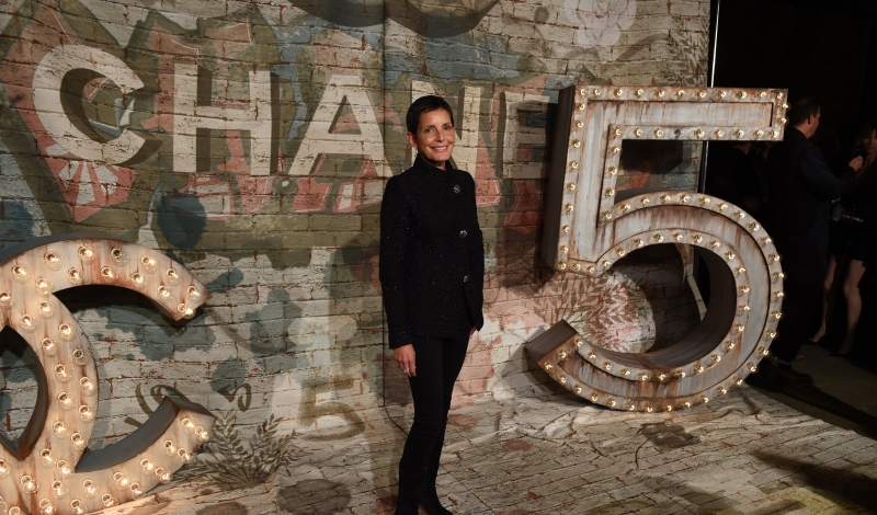 "Maureen Chiquet, Chanel Global CEO arrives for the Chanel dinner celebrating the debut screening of "" N°5 The Film ""  by Baz Luhrmann in New York October 13, 2014.  AFP PHOTO / Timothy A. Clary        (Photo credit should read TIMOTHY A. CLARY/AFP/Getty Images)"