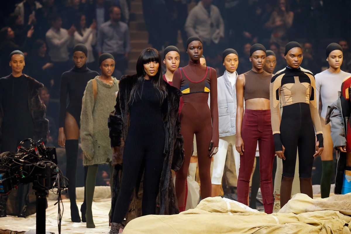 Naomi Campbell slays it at the unveiling of Yeezy season 3 by Kayne West/Getty.