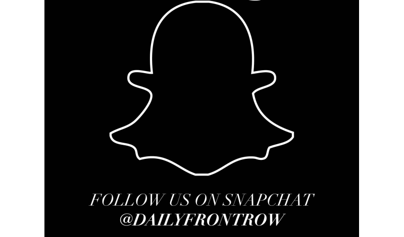 Follow us on Snapchat @dailyfrontrow