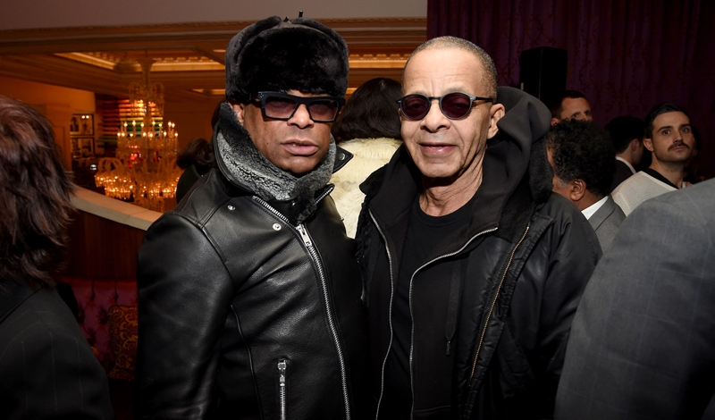 """NEW YORK, NY - MARCH 03:  George Wayne (L) and designer Stephen Burrows attend ""Battle At Versailles"" New York Premiere - After Party at The Rose Club at The Plaza Hotel on March 3, 2016 in New York City.  (Photo by Dimitrios Kambouris/Getty Images for IMG)"""