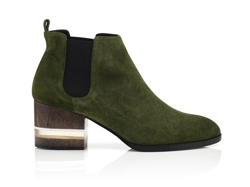 $590_Dear Frances_Forest Green Float Boot