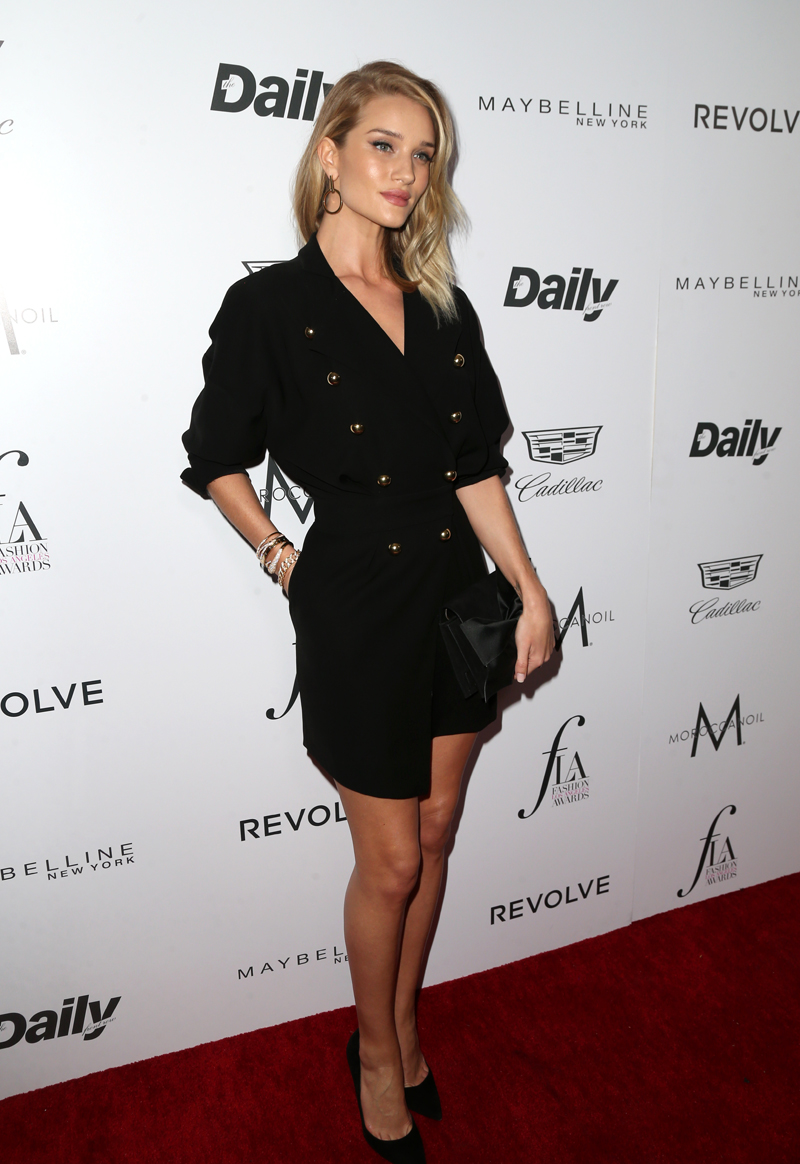 "WEST HOLLYWOOD, CA - MARCH 20: Model Rosie Huntington-Whiteley attends the Daily Front Row ""Fashion Los Angeles Awards"" at Sunset Tower Hotel on March 20, 2016 in West Hollywood, California. (Photo by Frederick M. Brown/Getty Images)"