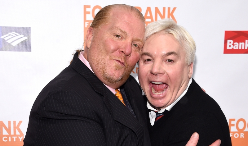 """""""NEW YORK, NY - APRIL 20:  (L-R) Chef Mario Batali and Actor Mike Myers attend the Food Bank Of New York City's Can Do Awards 2016 hosted by Michael Strahan and Mario Batali at Cipriani Wall Street on April 20, 2016 in New York City.  (Photo by Dimitrios Kambouris/Getty Images for Food Bank of New York City)"""""""