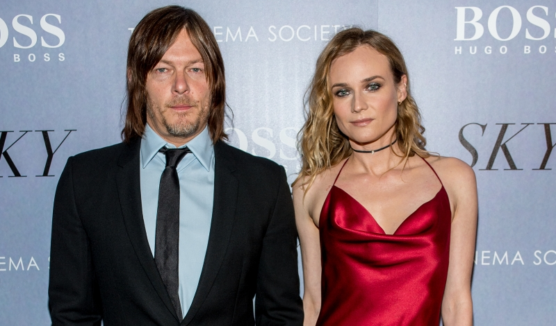 "NEW YORK, NY - APRIL 14: Actors Norman Reedus and Diane Kruger attends the premiere of IFC Films' ""Sky"" hosted by The Cinema Society and Hugo Boss at Metrograph on April 14, 2016 in New York City. (Photo by Roy Rochlin/Getty Images)"