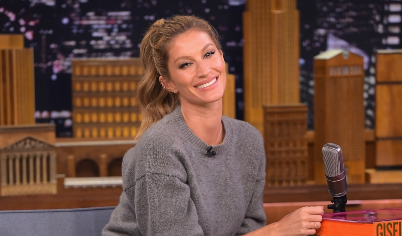 "NEW YORK, NY - APRIL 27:  Gisele Bundchen Visits ""The Tonight Show Starring Jimmy Fallon"" at Rockefeller Center on April 27, 2016 in New York City.  (Photo by Theo Wargo/Getty Images for NBC)"