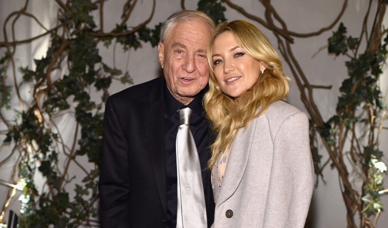 "NEW YORK, NY - APRIL 28:  Director Garry Marshall  (L) and actress Kate Hudson attend The Cinema Society With Lands' End screening of Open Road Films' ""Mother's Day"" after party at Ladur??e Soho on April 28, 2016 in New York City.  (Photo by Dimitrios Kambouris/Getty Images)"