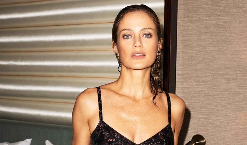 Bra top & Briefs: Etro; Earrings & Bracelet: Jelena Behrend Studio