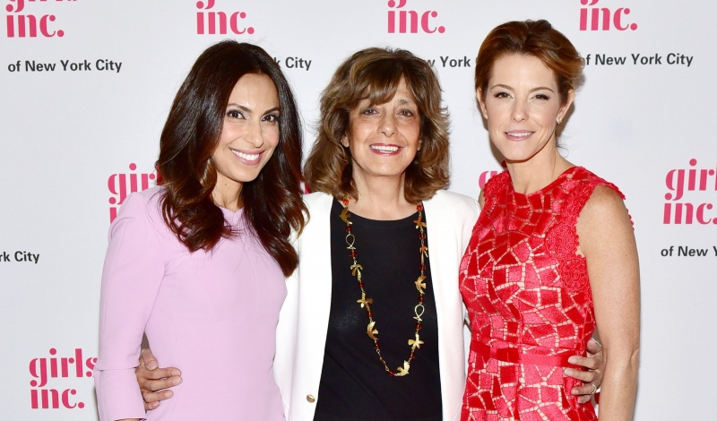 Jasmine Barr, Pamela Maraldo, Stephanie Ruhle==Girls Inc 2016 Spring Luncheon honors Stephanie Ruhle of MSNBC and Kirkland Ellis LLP==Metropolitan Club, NYC==April 28, 2016==©Patrick McMullan==Photo - Sean Zanni/PMC== ==