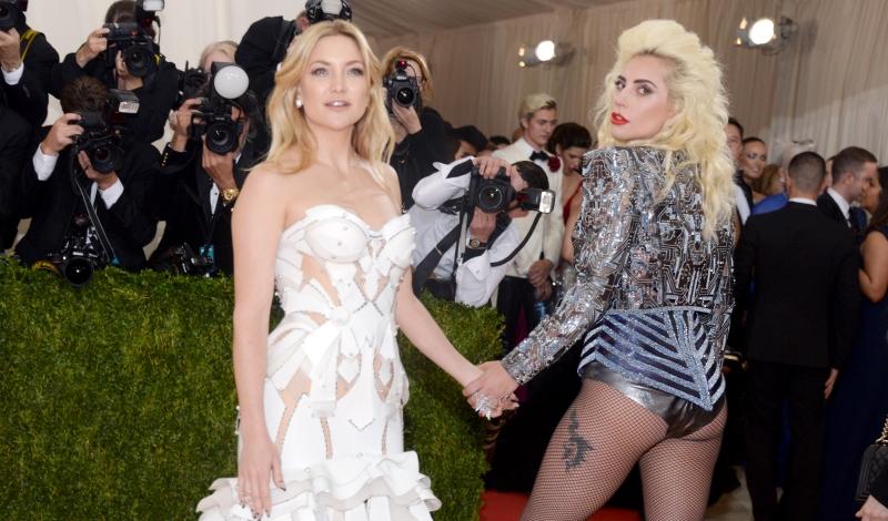 "Kate Hudson, Lady Gaga== Costume Institute Benefit at The Met Celebrates Opening of ""Manus x Machina"" Exhibition== The Metropolitan Museum of Art, NYC== May 2, 2016== ©Patrick McMullan== Photo - Clint Spaulding/PMC=="