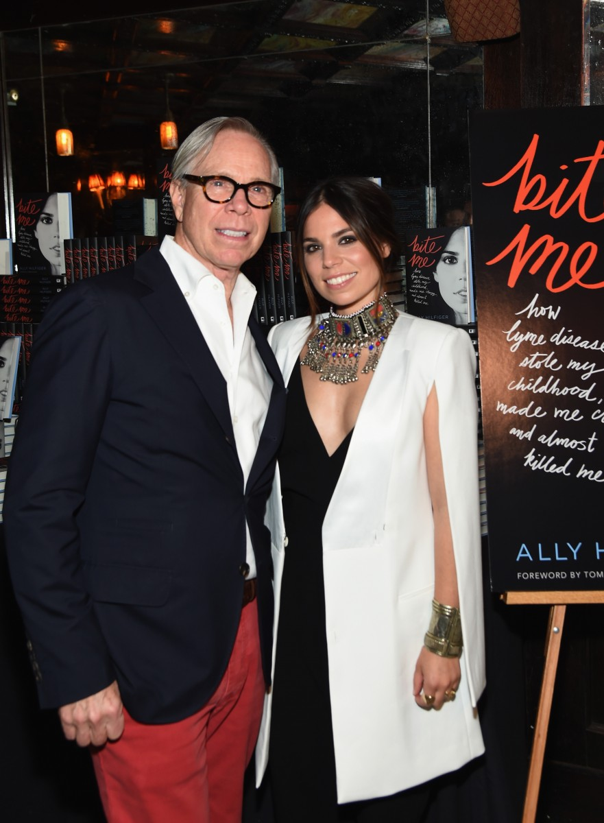 NEW YORK, NY - MAY 09: Fashion designer Tommy Hilfiger and Ally Hilfiger attend the launch of Ally Hilfiger's book, 'Bite Me' hosted by Ally and Tommy Hilfiger at The Jane Hotel on May 9, 2016 in New York City. (Photo by Jamie McCarthy/Getty Images for Ally Hilfiger)