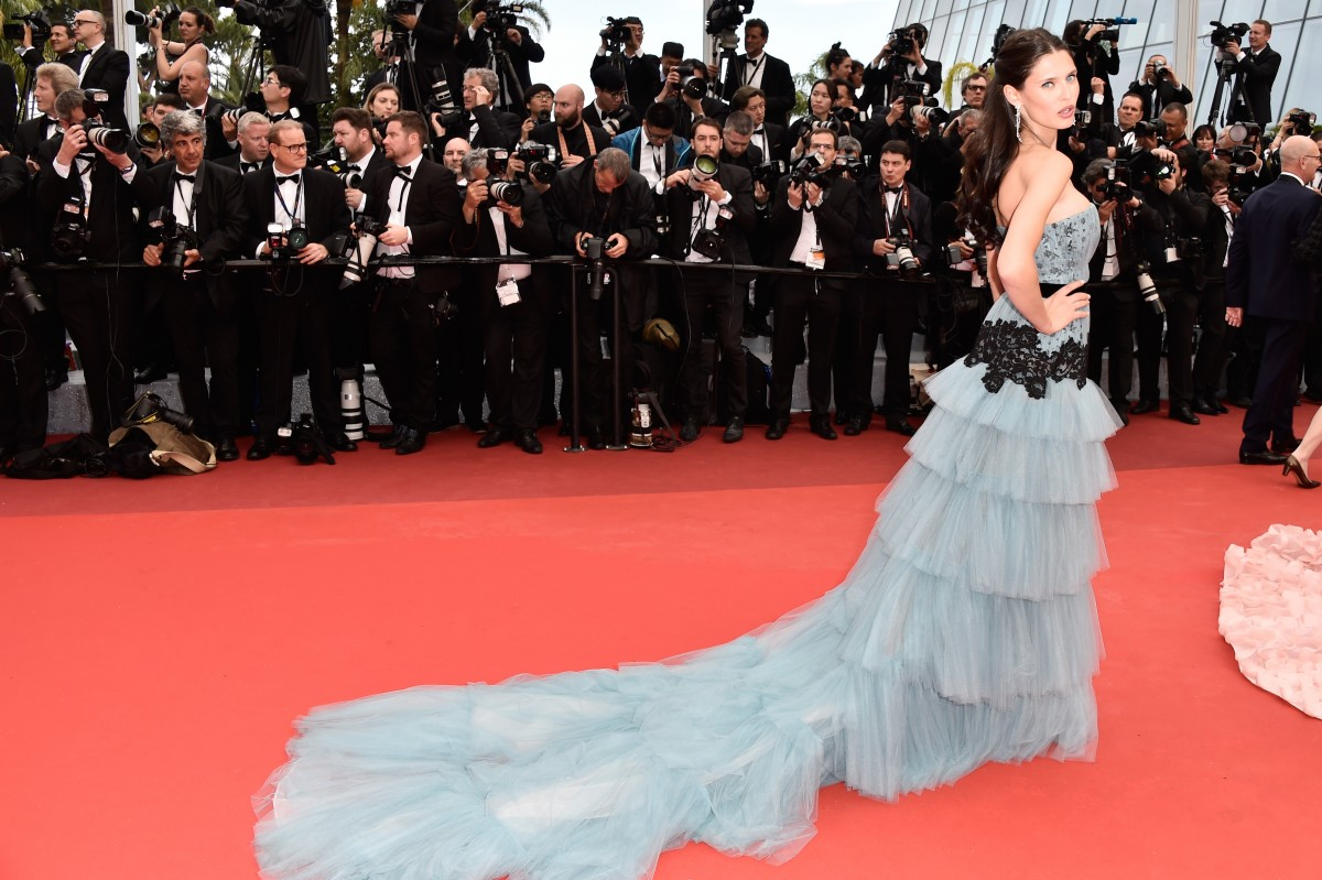"CANNES, FRANCE - MAY 11: Model Bianca Balti attends the ""Cafe Society"" premiere and the Opening Night Gala during the 69th annual Cannes Film Festival at the Palais des Festivals on May 11, 2016 in Cannes, France. (Photo by Pascal Le Segretain/Getty Images)"