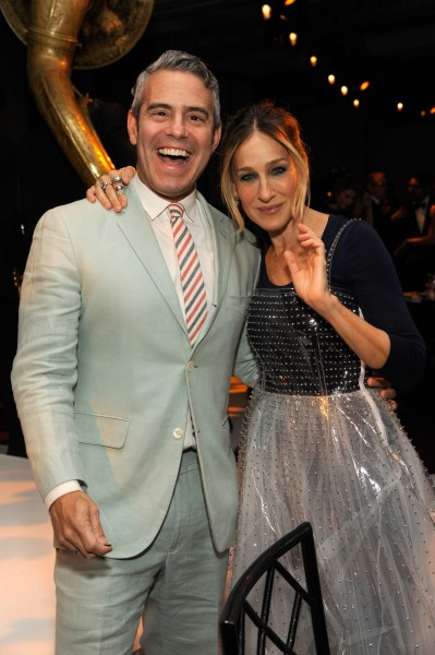 NEW YORK, NY - MAY 23: Andy Cohen and Sarah Jessica Parker attend the 2016 Parsons Benefit at Chelsea Piers on May 23, 2016 in New York City. (Photo by Rabbani and Solimene Photography/Getty Images for Parsons School of Design/The New School)