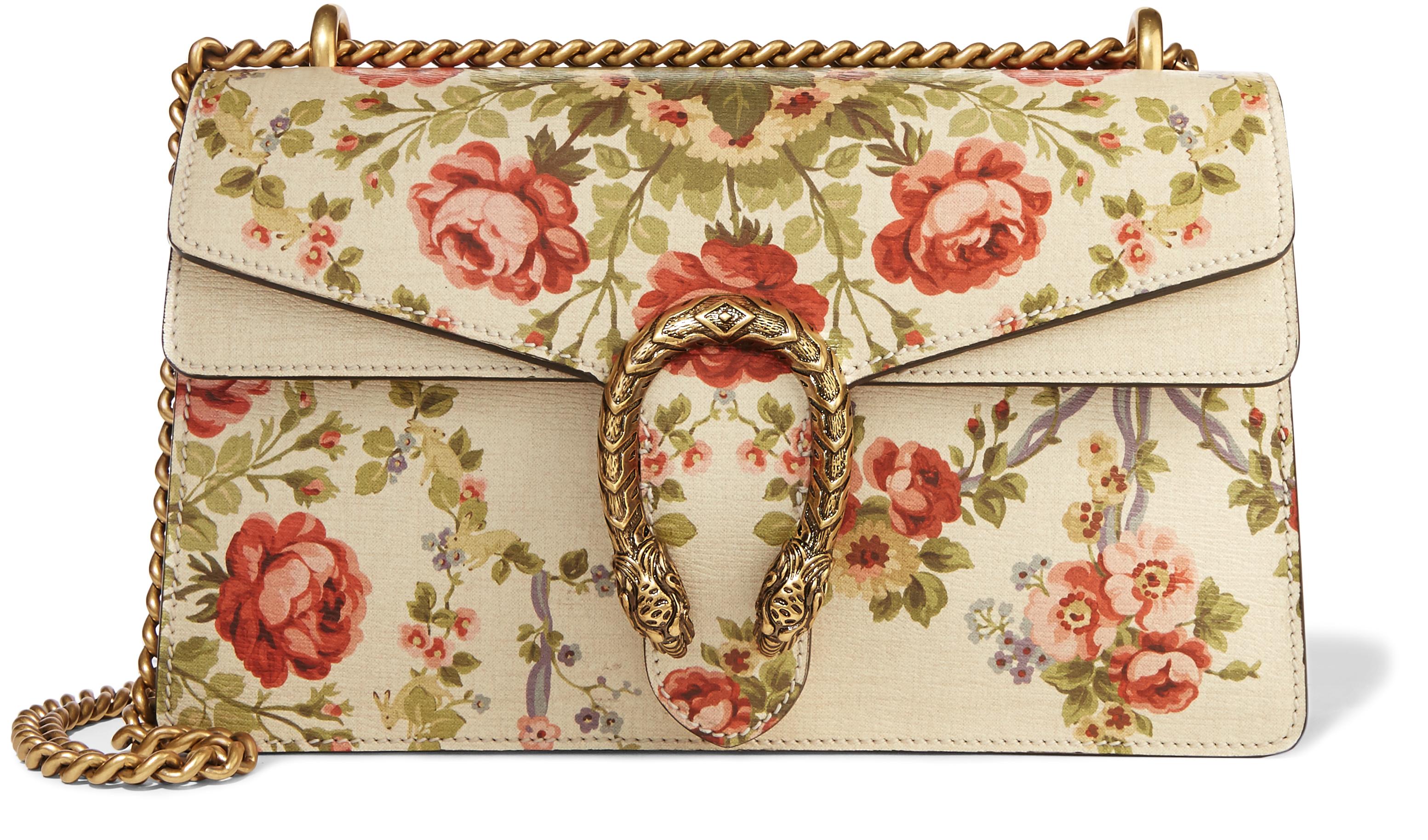 Gucci, Dionysus medium floral-print leather shoulder bag, $2,490 ...