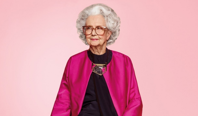 Harvey Nichols 100 year old model in Vogue