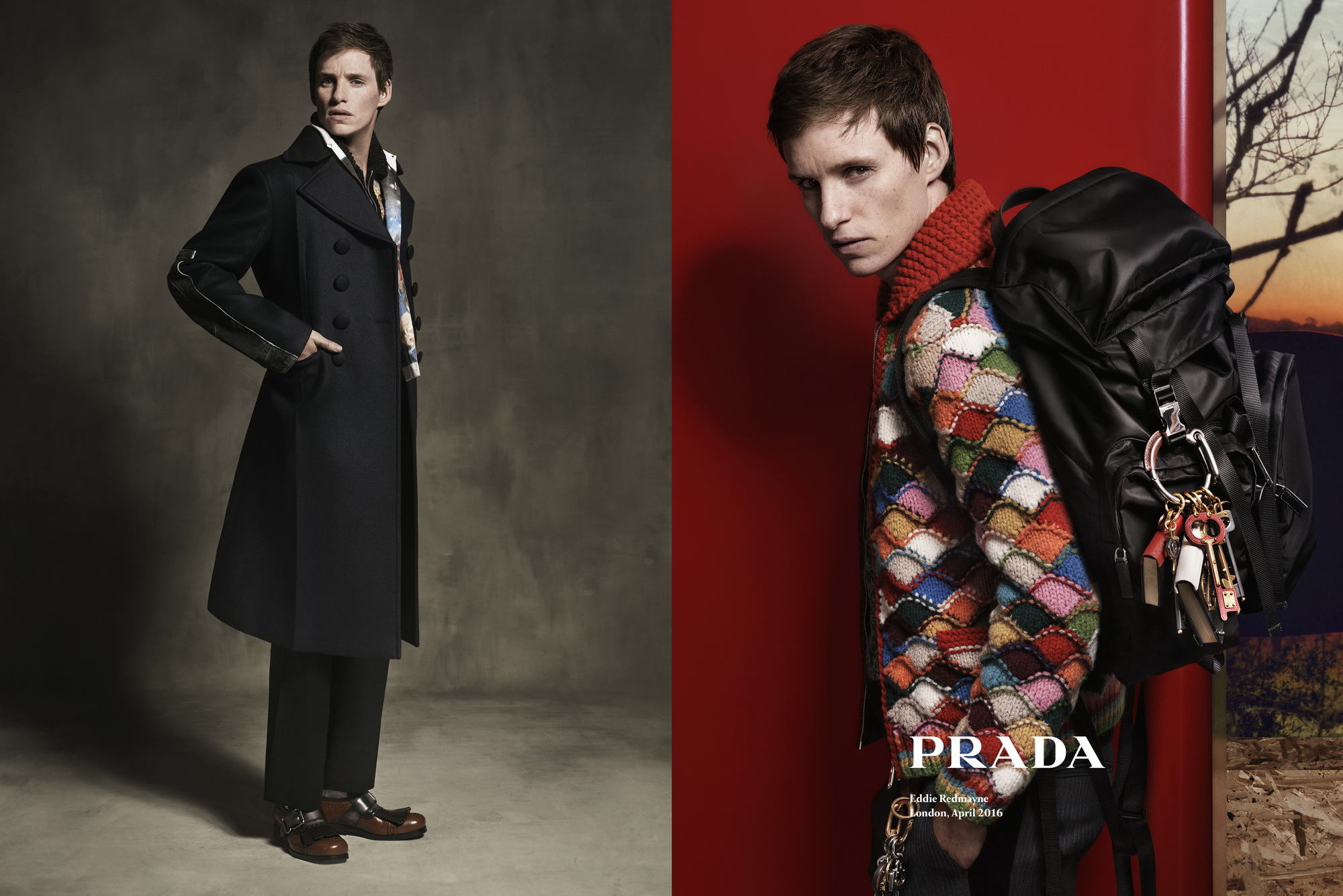 Eddie Redmayne Fronts Prada's Mens Fall '16 Campaign ...