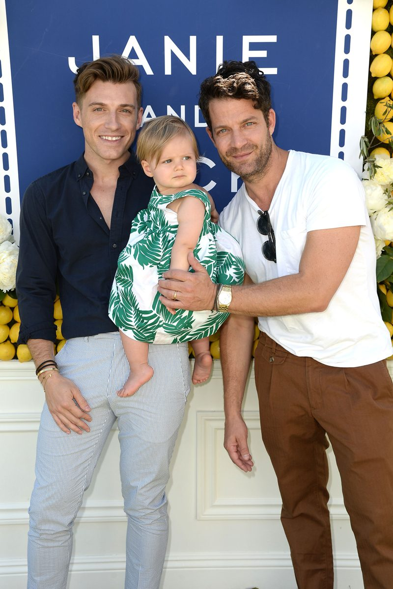 -Beverly Hills, CA - 6/18/2016 - Children's Fashion Brand, Janie and Jack, Celebrates Their Summer 2016 Collection in Beverly Hills, CA. -PICTURED: Nate Berkus,Jeremiah Brent,Poppy Brent Berkus -PHOTO by: Michael Simon/startraksphoto.com -MS70858 Editorial - Rights Managed Image - Please contact www.startraksphoto.com for licensing fee Startraks Photo New York, NY For licensing please call 212-414-9464 or email sales@startraksphoto.com