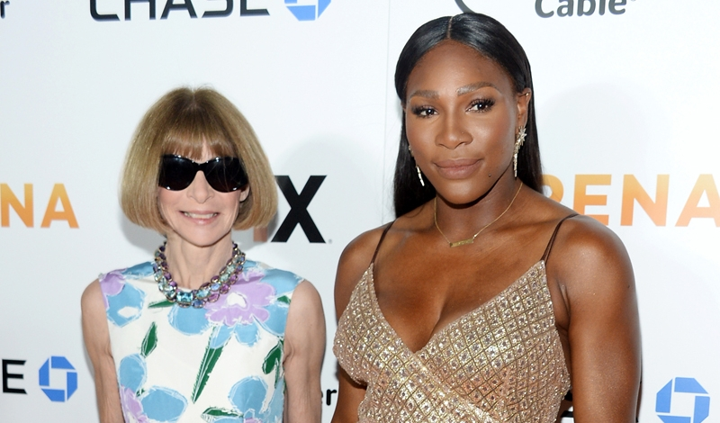 "Anna Wintour, Serena Williams==The Premiere of EPIX Original Documentary ""Serena""==SVA Theatre, NYC==June 13, 2016==©Patrick McMullan==Photo - Clint Spaulding/PMC== == Anna Wintour; Serena Williams"