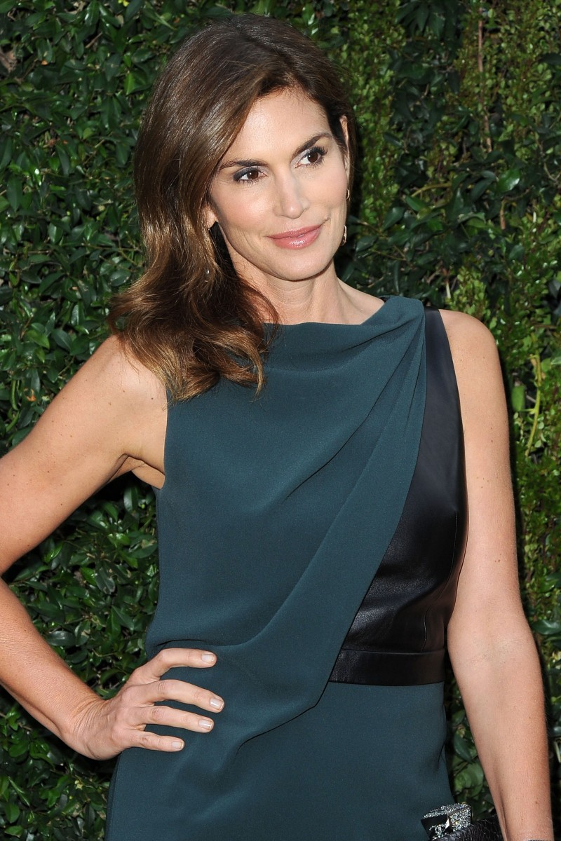 Cindy Crawford, wearing CHANEL==CHANEL DINNER FOR NRDC A celebration of art, nature, and technology==Private Residence, Beverly Hills, CA==May 31, 2013==©Patrick McMullan==Photo - ANDREAS BRANCH/patrickmcmullan.com====