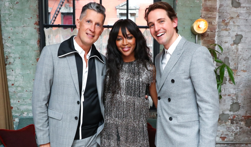 Stefano Tonchi, Naomi Campbell, Alexander Gilkes, all wearing BURBERRY