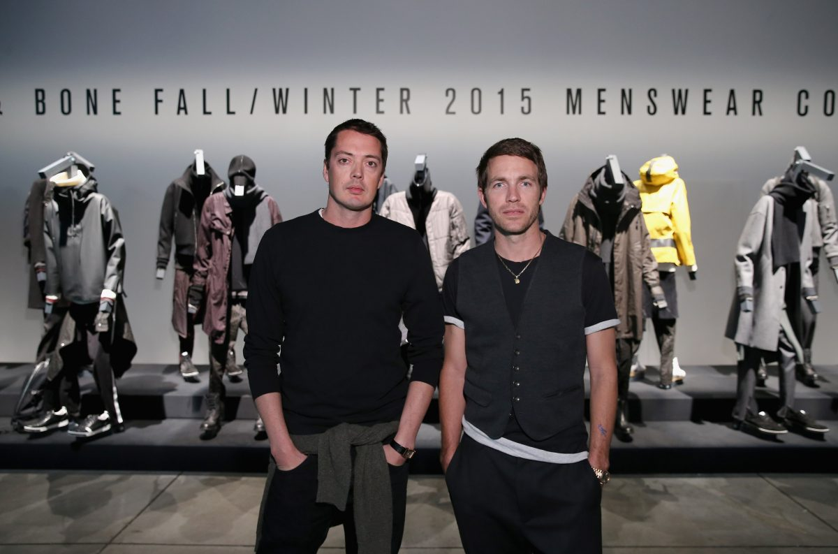 NEW YORK, NY - FEBRUARY 03: Designers Marcus Wainwright (L) and David Neville attend Rag & Bone Fall/Winter 2015 Menswear Presentation at Dia Center on February 3, 2015 in New York City. (Photo by Neilson Barnard/Getty Images for Rag & Bone)