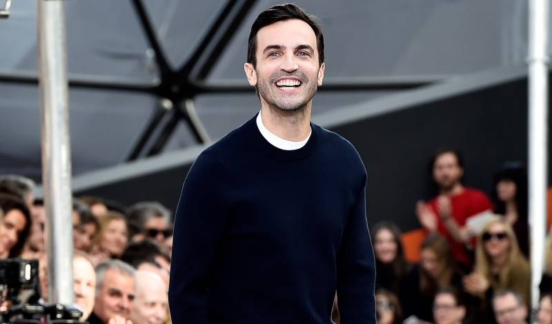 PARIS, FRANCE - MARCH 11:  Designer Nicolas Ghesquiere appears on the runway during the Louis Vuitton  show as part of the Paris Fashion Week Womenswear Fall/Winter 2015/2016 on March 11, 2015 in Paris, France.  (Photo by Pascal Le Segretain/Getty Images)