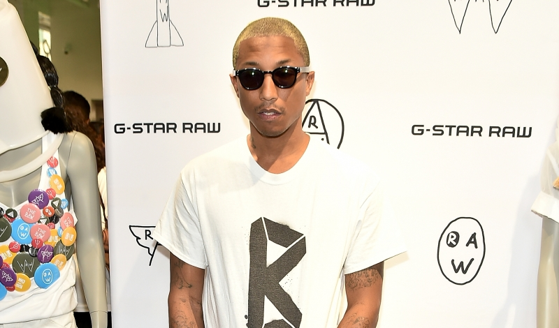 NEW YORK, NY - JUNE 01:  Pharrell Williams attends the G-Star RAW Fifth Avenue Store Opening at G-Star RAW Fifth Avenue on June 1, 2016 in New York City.  (Photo by Theo Wargo/Getty Images)