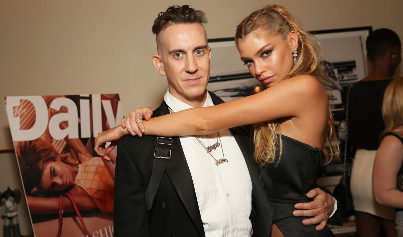 NEW YORK, NY - JUNE 02: (EXCLUSIVE COVERAGE)  Designer Jeremy Scott and model Stella Maxwell attend the The Daily's Summer premiere party at the Smyth Hotel on June 2, 2016 in New York City.  (Photo by Monica Schipper/Getty Images)