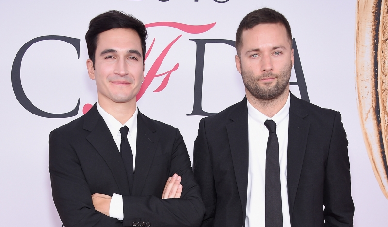 NEW YORK, NY - JUNE 06: Lazaro Hernandez (L) and Jack McCollough attend the 2016 CFDA Fashion Awards at the Hammerstein Ballroom on June 6, 2016 in New York City.  (Photo by Dimitrios Kambouris/WireImage)