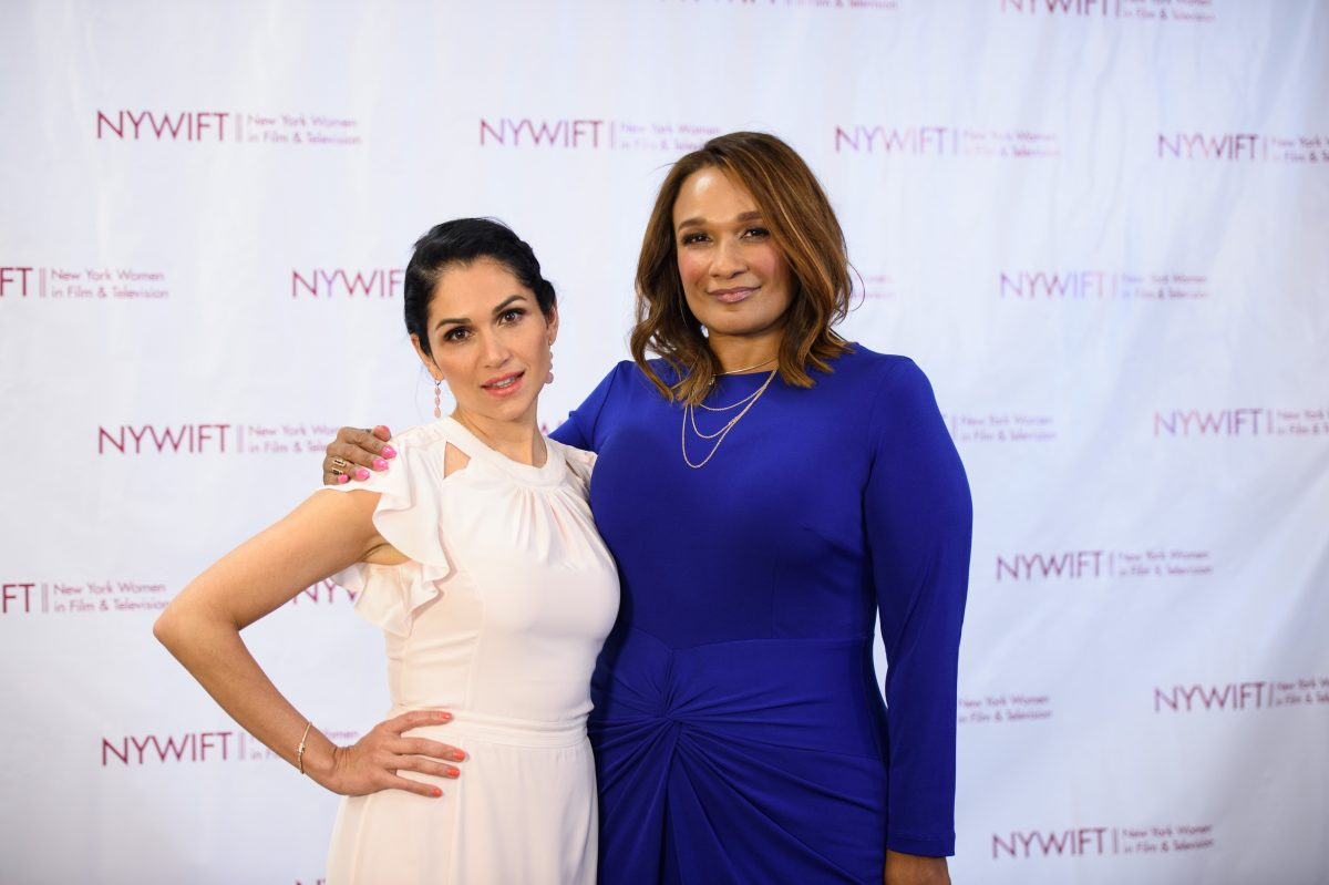 NEW YORK, NY - JUNE 13: Lela Loren and MUA Anita Gibson attends the 2016 New York Women In Film & Television's Designing Women Galaat CUNY Graduate Center on June 13, 2016 in New York City. (Photo by Dave Kotinsky/Getty Images)