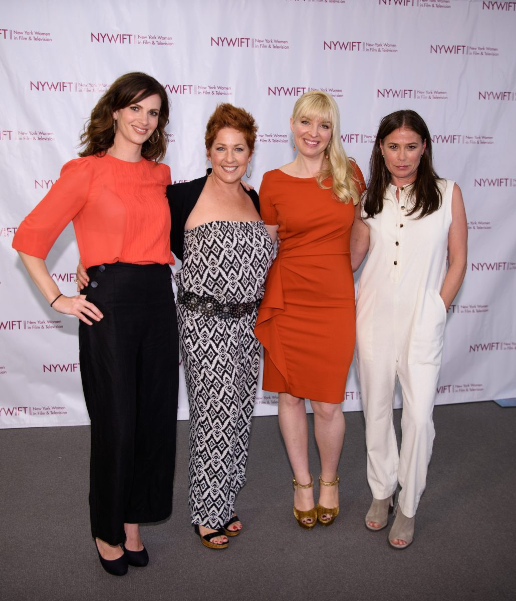 NEW YORK, NY - JUNE 13: Sheri Kornhaber, Hair Stylist Dianes Sikes , Caroline Duncan and Maura Tierney attend the 2016 New York Women In Film & Television's Designing Women Galaat CUNY Graduate Center on June 13, 2016 in New York City. (Photo by Dave Kotinsky/Getty Images)