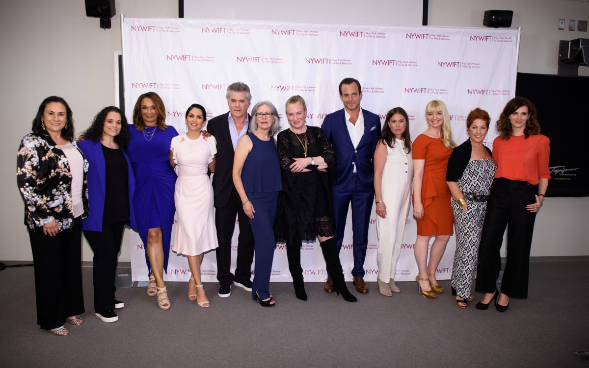 NEW YORK, NY - JUNE 13: Alexis Alexanian, Jessica Kirson, Anita Gibson, Lela Loren, Ray Liotta, Rose Chatterton, Sarah Edwards, Will Arnett, Maura Tierney, Caroline Duncan, Diana Sikes and Sheri Kornhaber attend the 2016 New York Women In Film & Television's Designing Women Galaat CUNY Graduate Center on June 13, 2016 in New York City. (Photo by Dave Kotinsky/Getty Images)