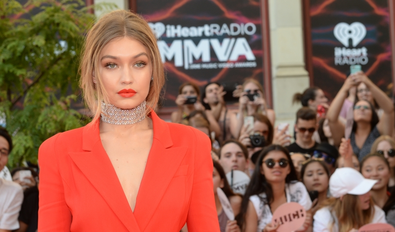 TORONTO, ON - JUNE 19:  Host Gigi Hadid arrives at the 2016 iHeartRADIO MuchMusic Video Awards at MuchMusic HQ on June 19th, 2016 in Toronto, Canada.  (Photo by Sonia Recchia/Getty Images)