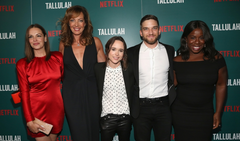 "Tammy Blanchard, Allison Janney, Ellen Page, Evan Jonigkeit, Uzo Aduba==Netflix Hosts a Special Screening of ""Tallulah""==Landmark Sunshine Cinema, NYC==July 19, 2016==©Patrick McMullan==Photo - Sylvain Gaboury/PMC== == Tammy Blanchard; Allison Janney; Ellen Page; Evan Jonigkeit; Uzo Aduba"